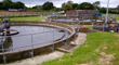 Settlement tanks like this one at Pagham Wastewater Treatment Works near Bognor Regis then remove most of the solid material.