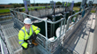 Surveying the newly upgraded Lidsey Wastewater Treatment Works in West Sussex