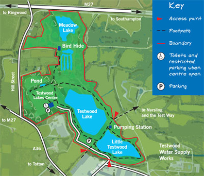 Testwood map